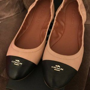 $89 *NEW*COACH 9.5 Bonnie Nude Pink Leather Flat